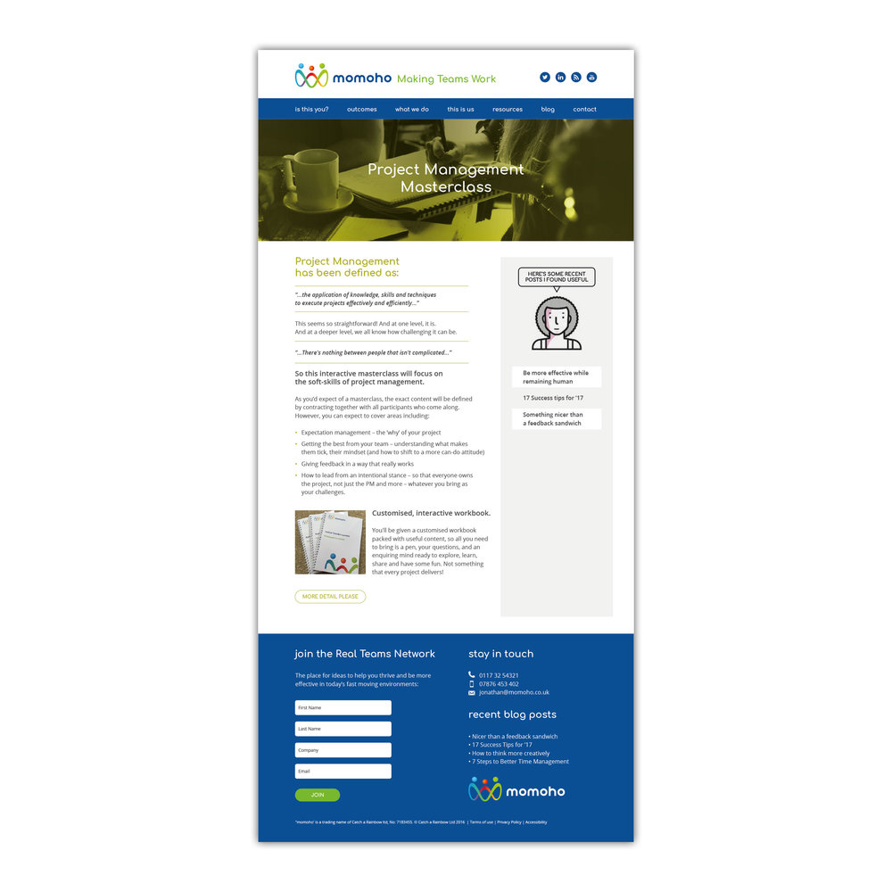 Inner page template design