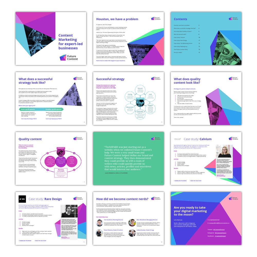 Future Content branded slide presentation deck