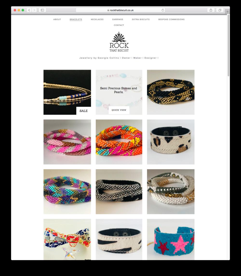Bracelets shop page