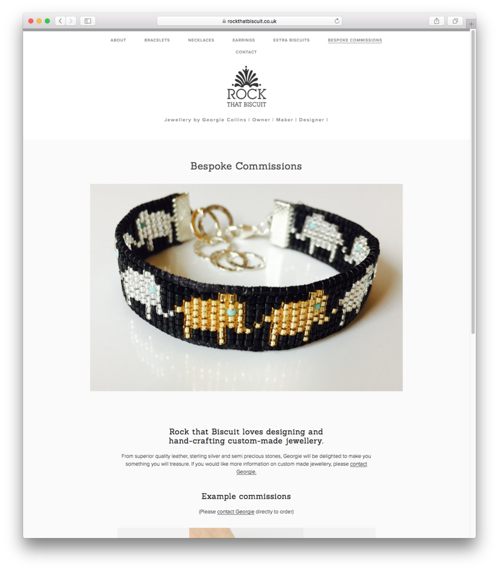 'Bespoke Commissions' page
