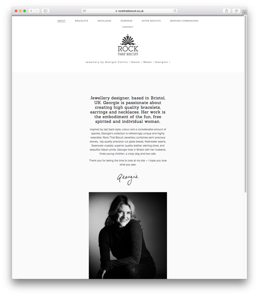 'About' page