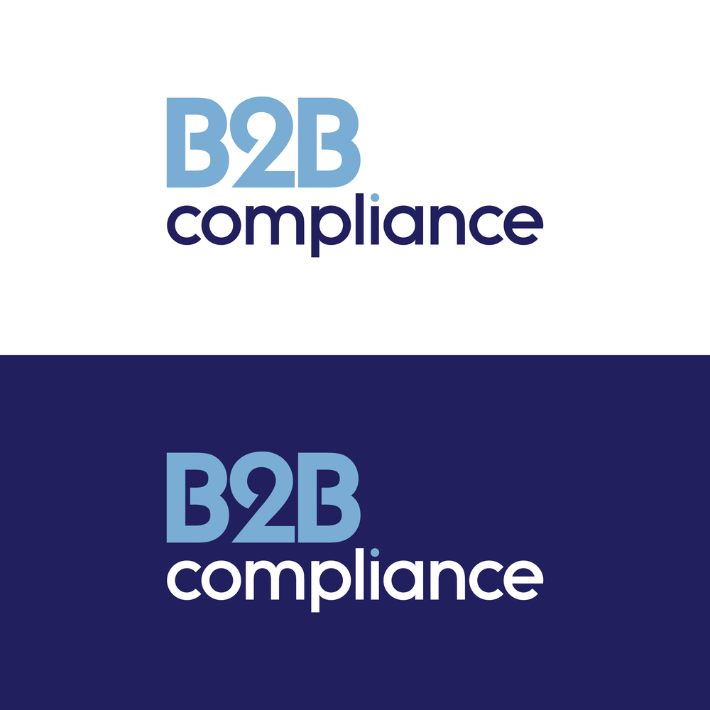 B2B Compliance logos – designed to work on white and dark backgrounds