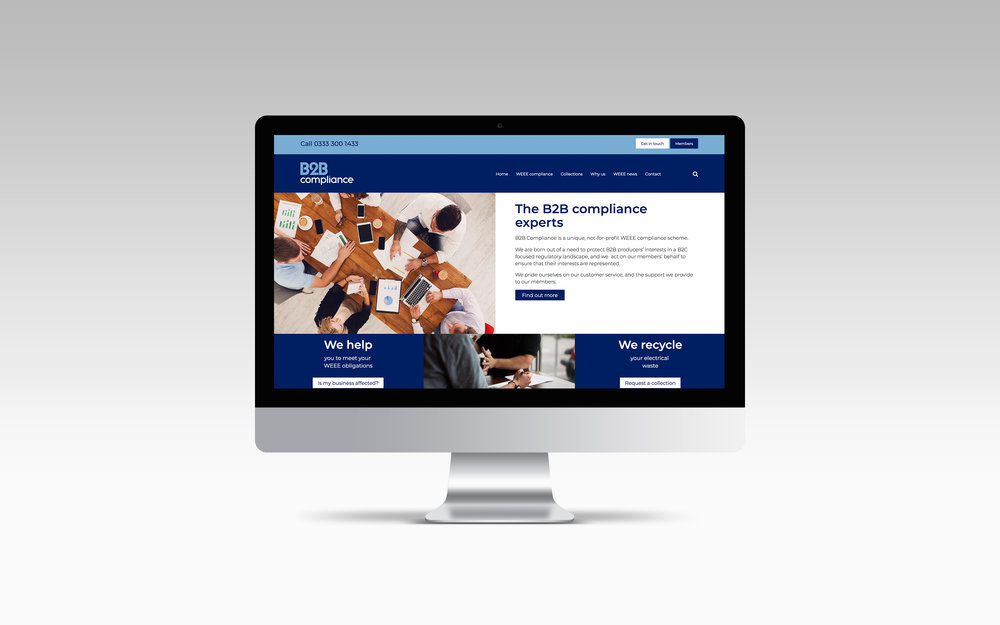B2B Compliance website design
