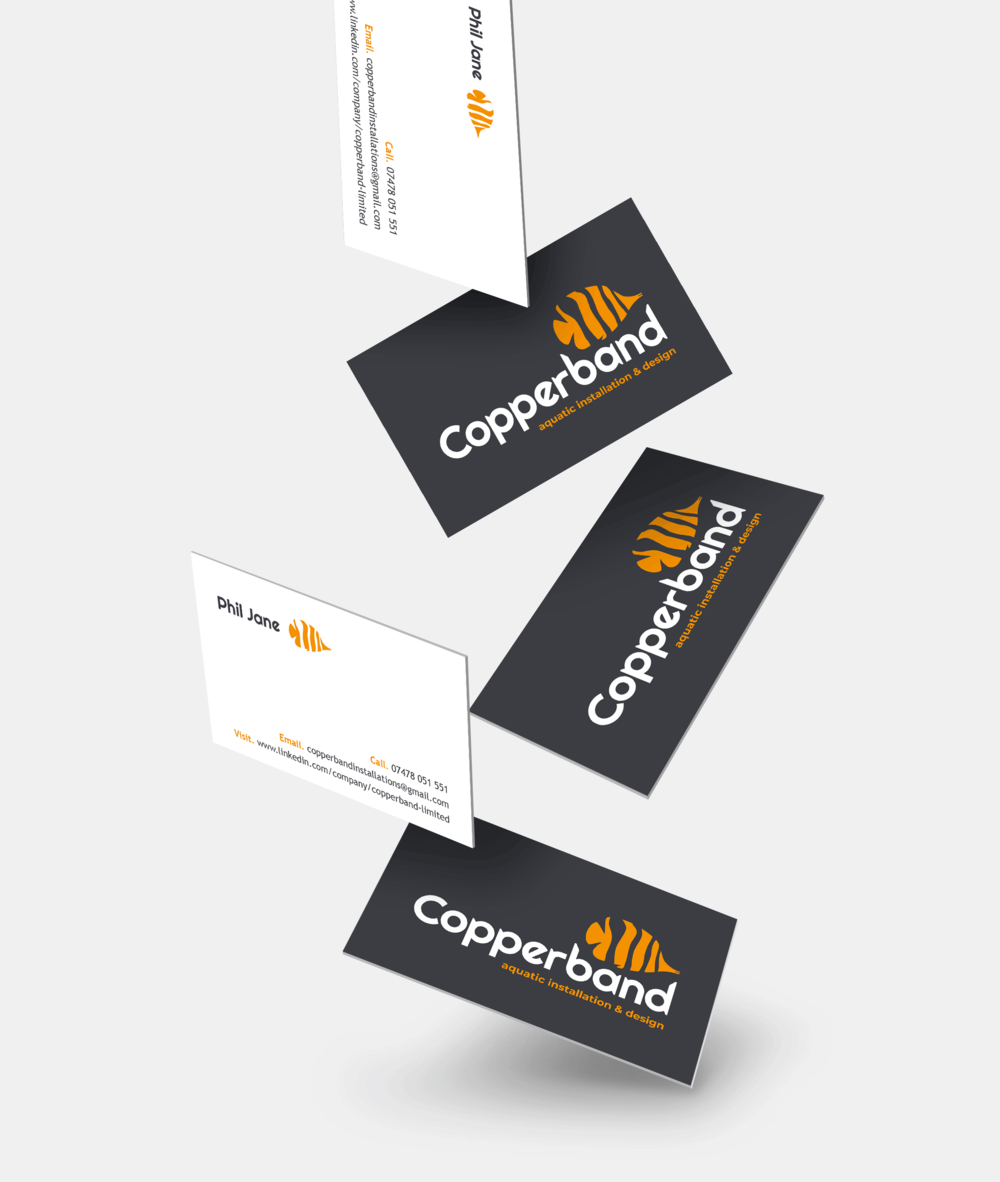 Copperband business card design