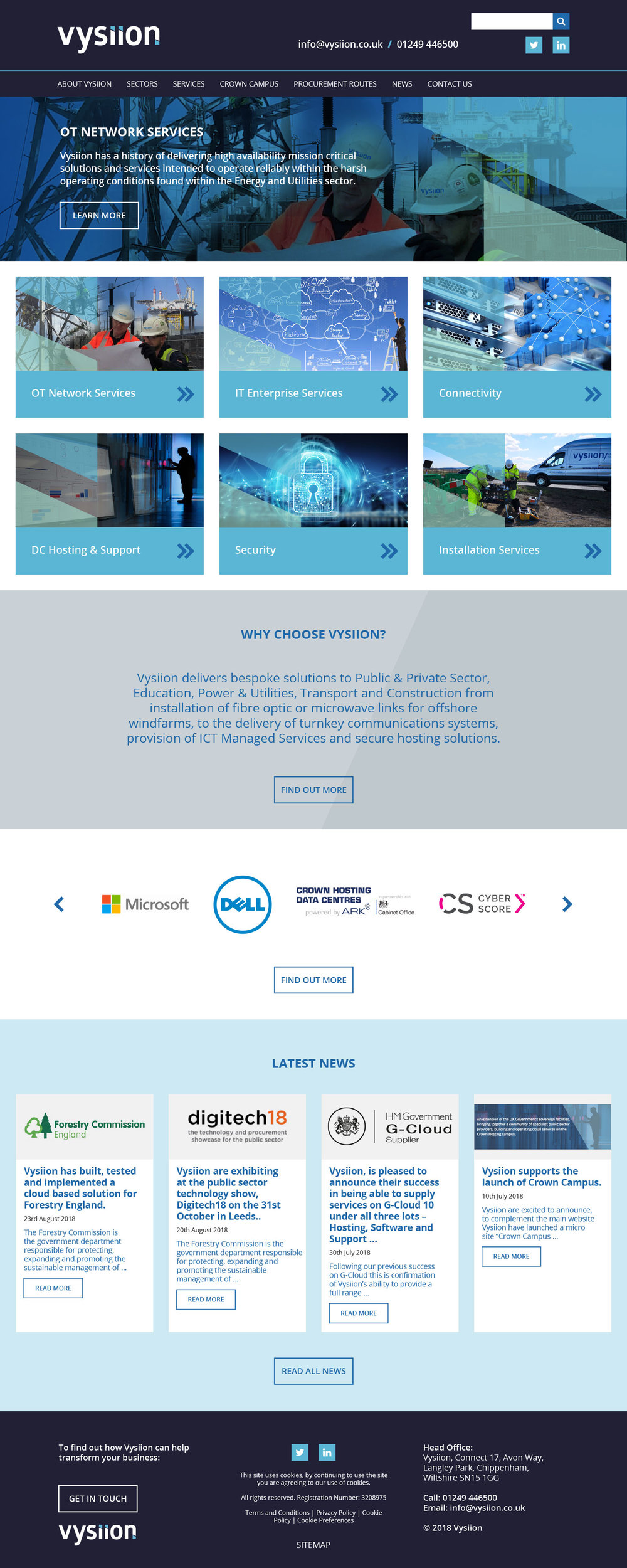 Vysiion home page design layout