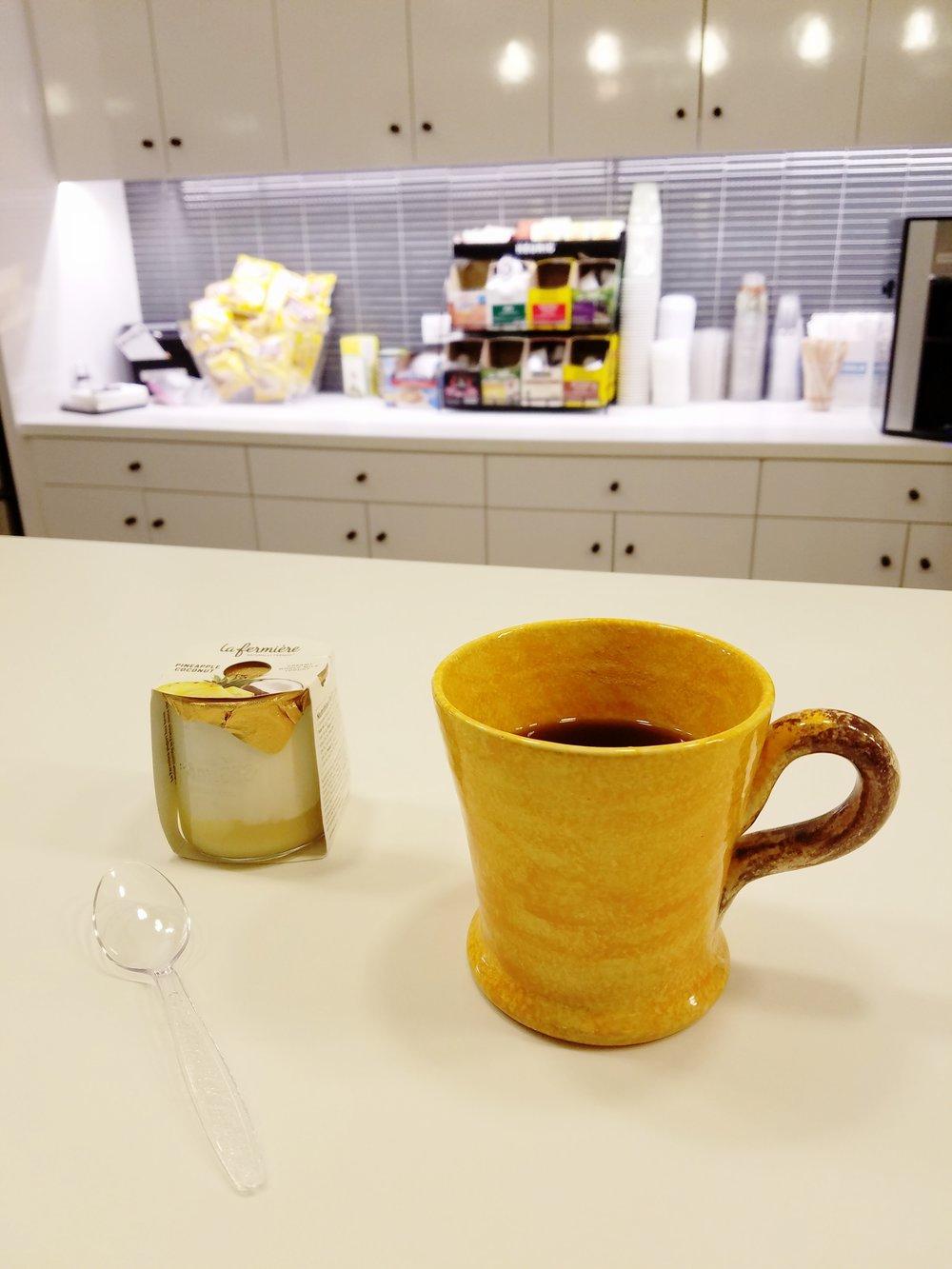 Coffee and Yogurt at The Bistro
