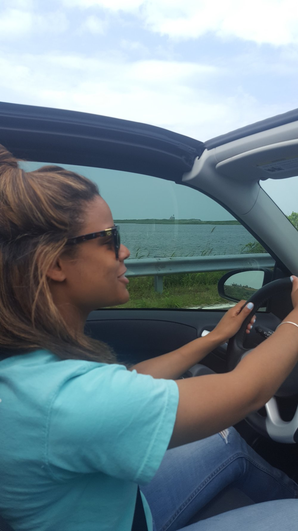 Cruising all over Block Island in a Jeep