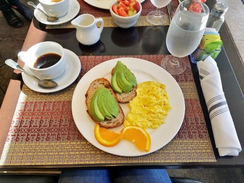 Avocado Toast @ La Pastaia in Hotel De Anza in San Jose, CA