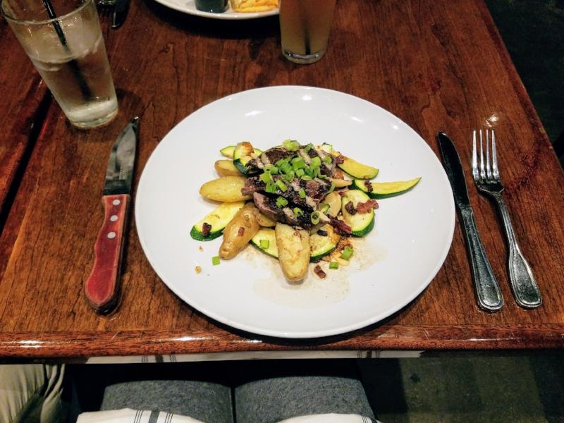 "Grilled Prime Steak ""Salad"" @ Firehouse No. 1 Gastropub in San Jose, CA"