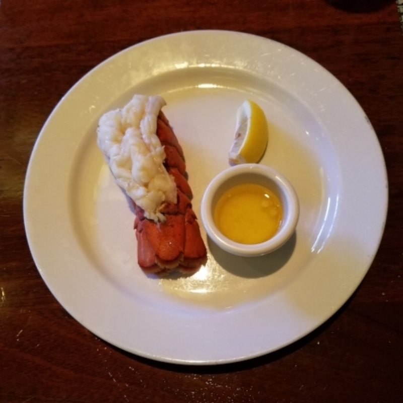 Twin North Atlantic Lobster Tails Lobster Bisque Mashed Potatoes @ McCormick & Schmick's Seafood & Steaks in San Jose, CA