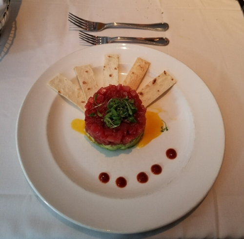 Tuna Tartare at The Capital Grille.