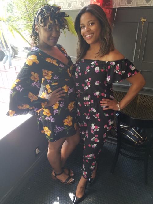 Imari + Bianca - Black Jumper w Floral Print