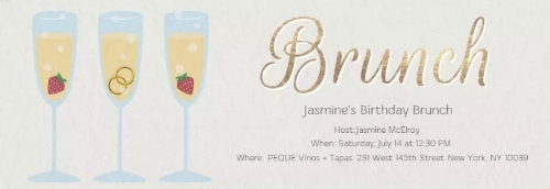 Jasmine created her invitation on Evites.