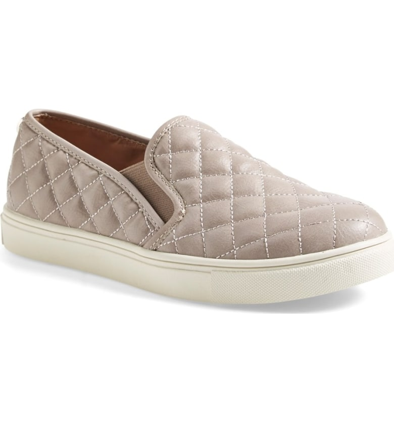 Steve Madden Ecentrcq Sneaker in Grey Faux Leather @ Nordstrom