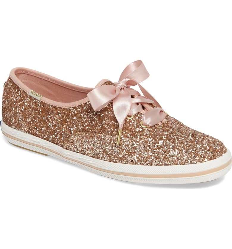 Glitter Sneaker by Kate Spade x Ked Rose Gold