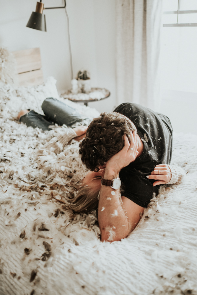 Couples Photographer, Cozy Romantic Intimate In-home Photography Session