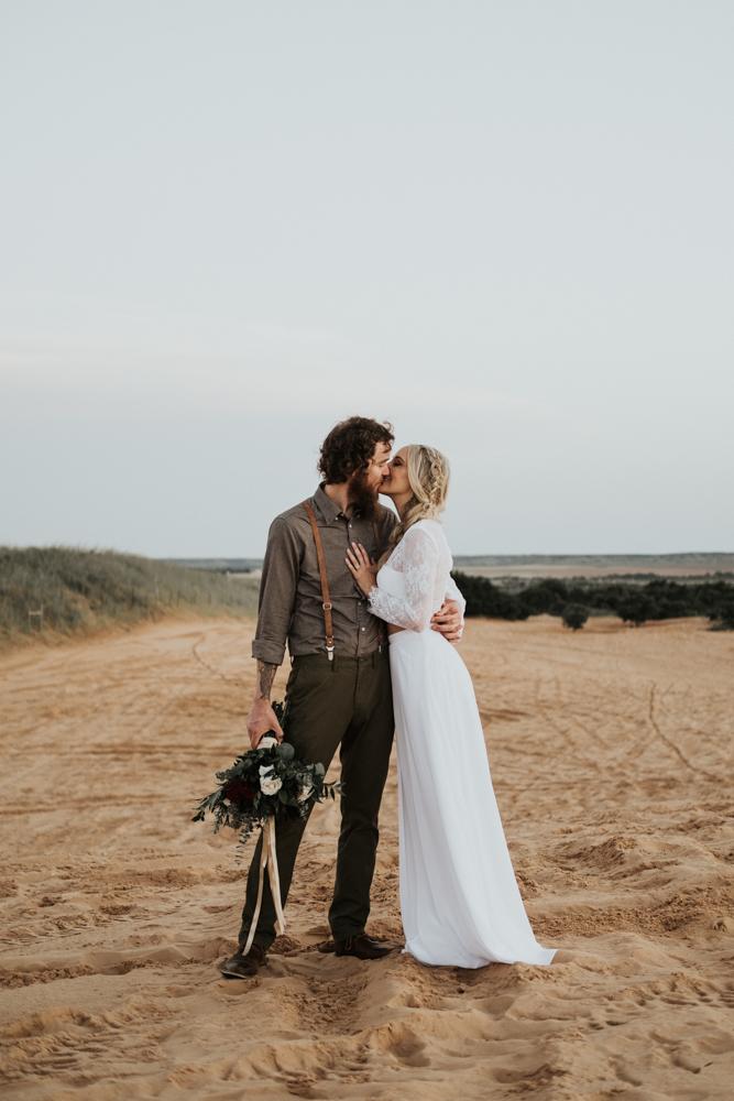 Couples Elopement Destination Photographer in Little Sahara State Park