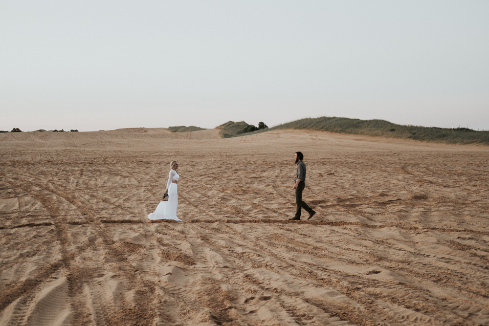Couples Elopement Destination Photographer in Little Sahara State Park