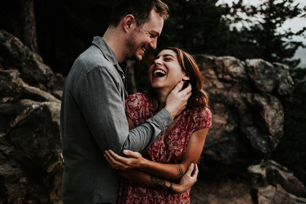 Adventurous Engagement Photography Session at Lookout Mountain in Golden, Colorado