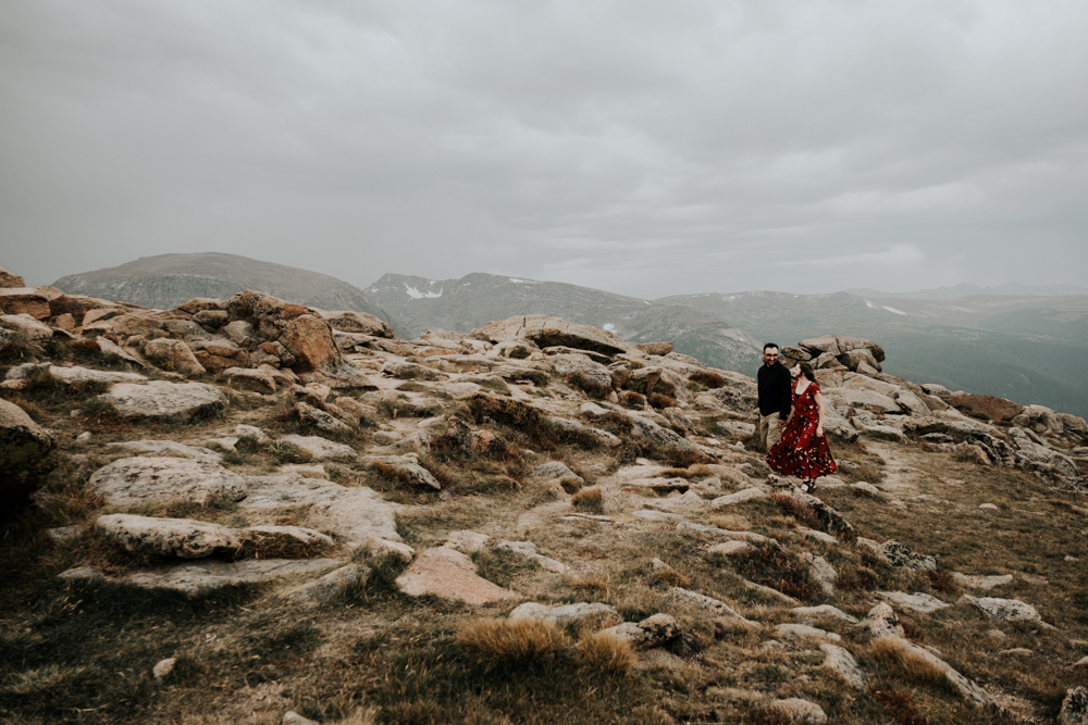 Copy of Couples Engagement Adventure Session at Trail Ridge Road in Rocky Mountain National Park, Colorado