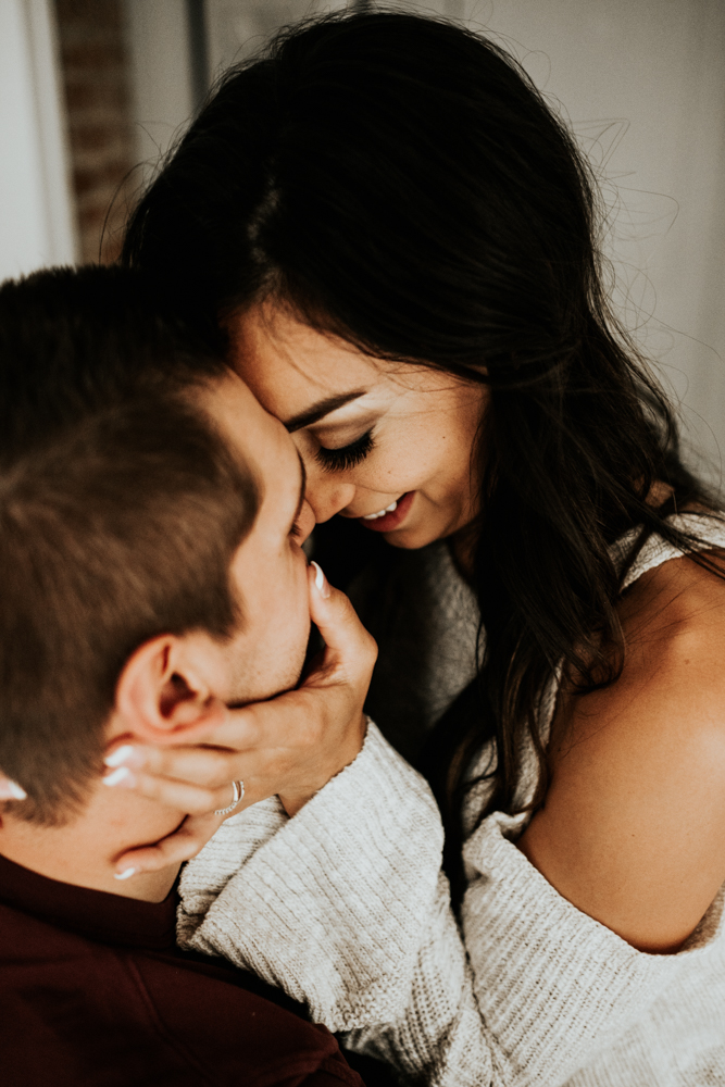 Romantic In-Home Couples Session