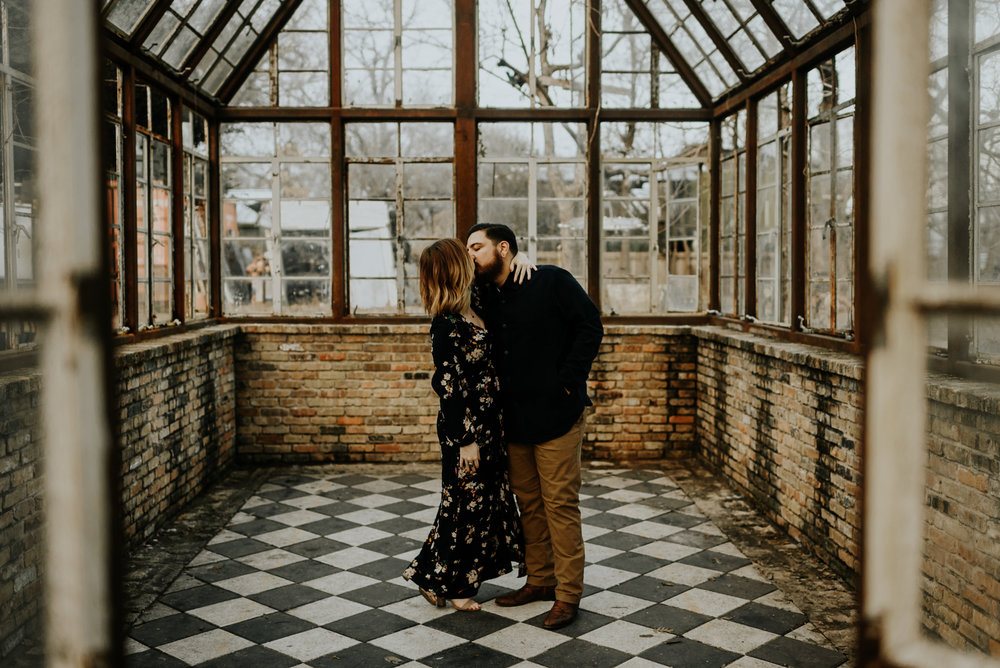 Adventurous Engagement Photographer at Sekrit Theater in Austin, Texas