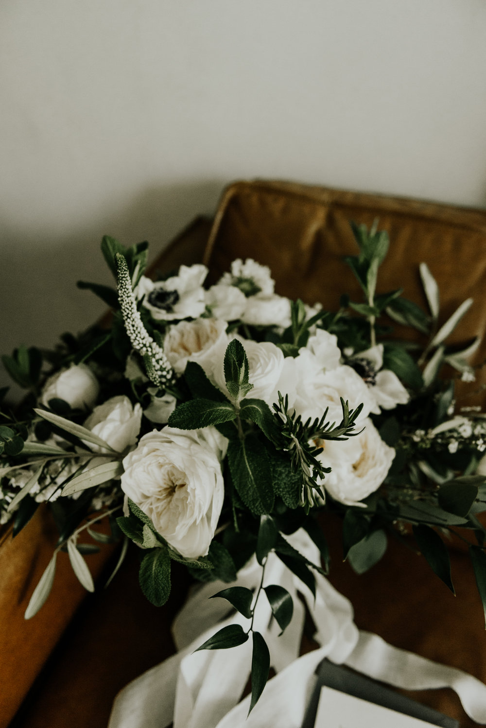 Modern Intimate Wedding Bride Bouquet and Details in Austin, Texas