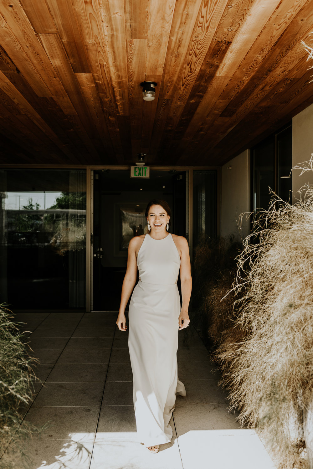 Intimate Wedding first look photos in Austin, Texas