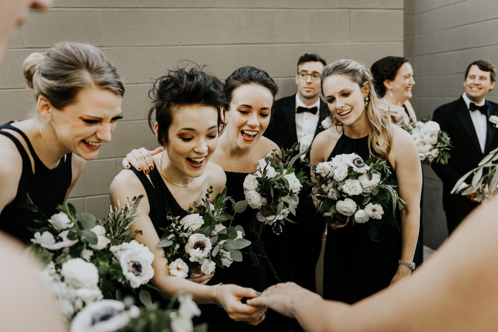 Intimate Wedding Day Bridal Party Photos in Austin, Texas