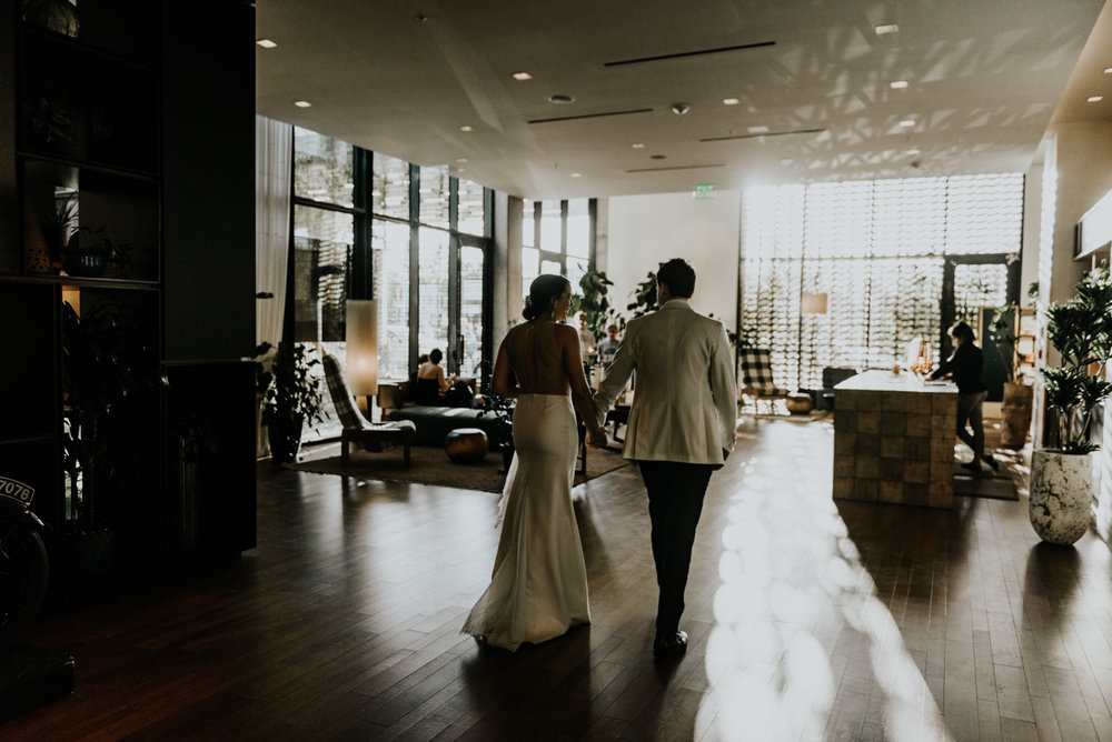 Intimate Wedding moments photos at South Congress Hotel in Austin, Texas