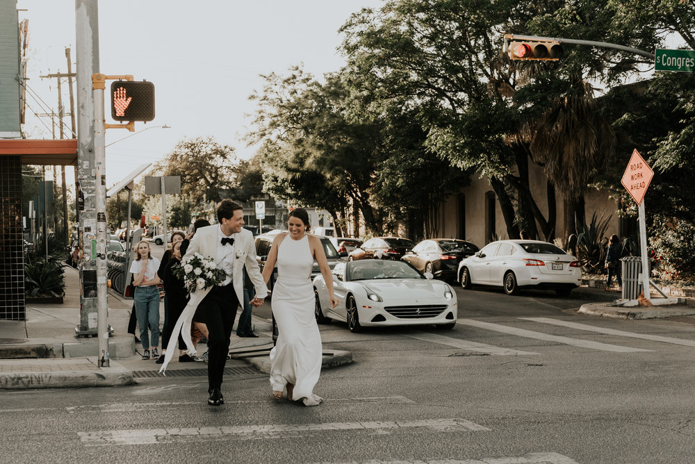 Intimate Wedding Bride and Groom Portraits Austin Texas