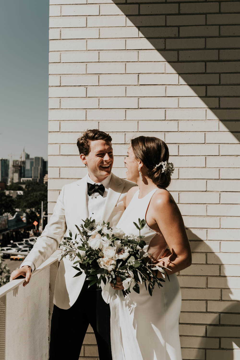 Intimate Wedding day Portraits at South Congress Hotel in Austin, Texas