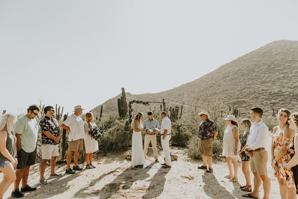 Intimate Wedding Ceremony in Todos Santos, Baja California Sur, Mexico