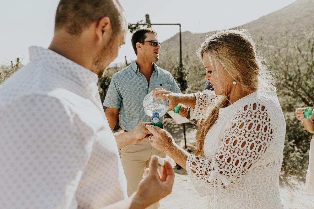 Tequila shot, Ceremony photos in Todos Santos, Baja California Sur, Mexico