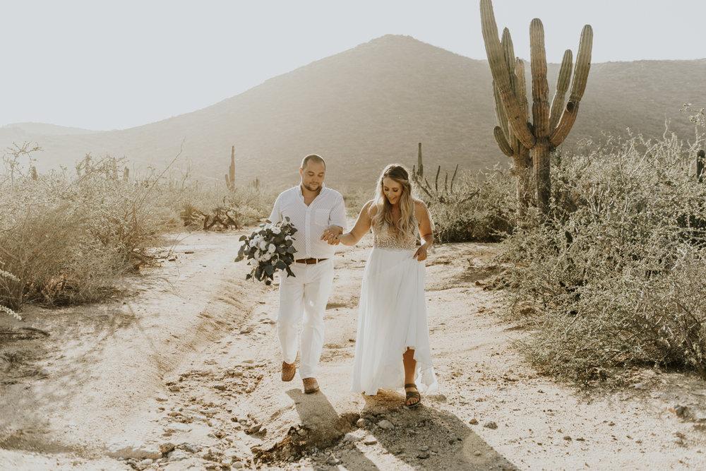 Intimate Elopement Wedding photos in Todos Santos, Baja California Sur, Mexico