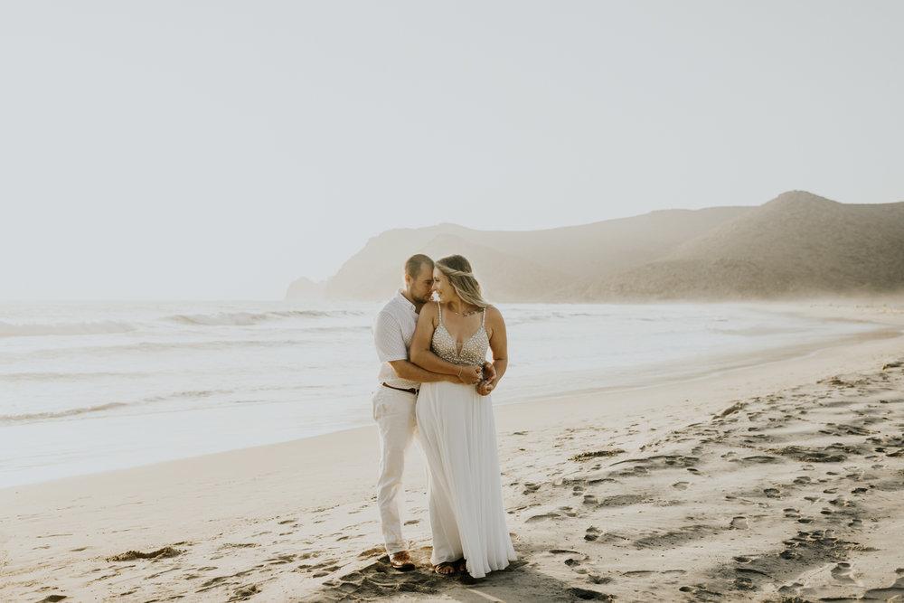 Wedding Portraits in Todos Santos beach Baja California, Elopement