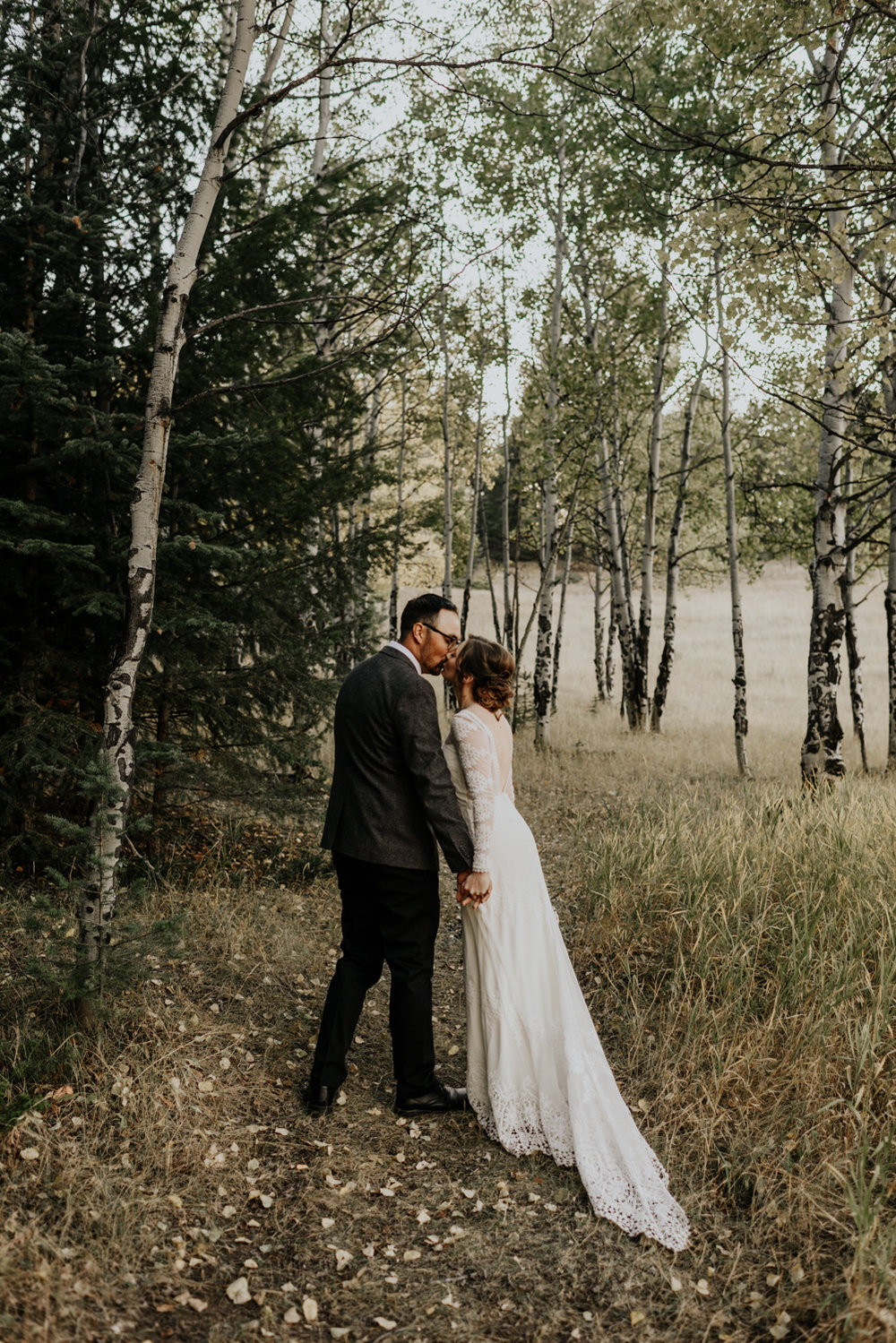 Intimate Fall Mountain Wedding in Colorado