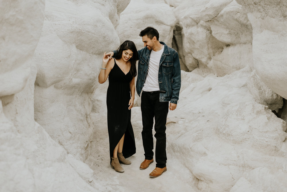 Adventurous Engagement Session at the Paint Mines in Colorado