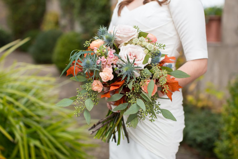 Anytime a bride tells me she's working with  Atlanta wedding florist Faith Flowers , I get so excited! Her work is always beautiful and she captures the spirit of the bride's wedding style. I adore this beautiful fall bouquet that Lina carried for her  fall wedding at Summerour Studio !