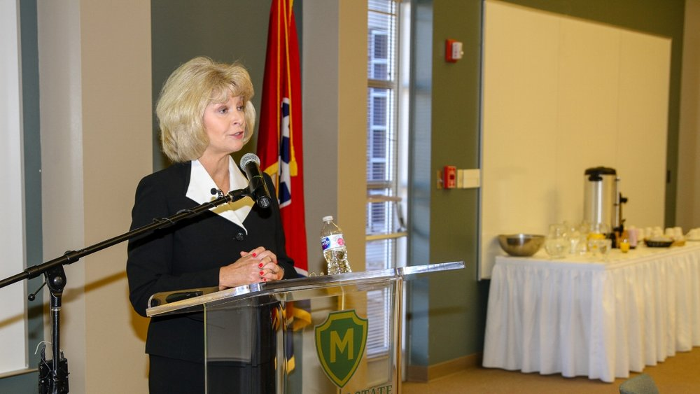 Interim President Hilda Tunstill