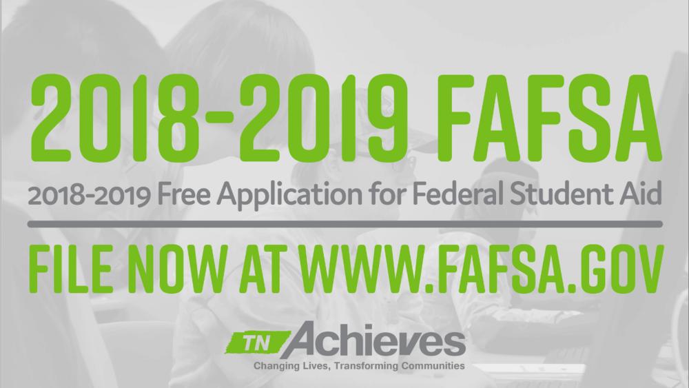 File the FAFSA at fafsa.gov