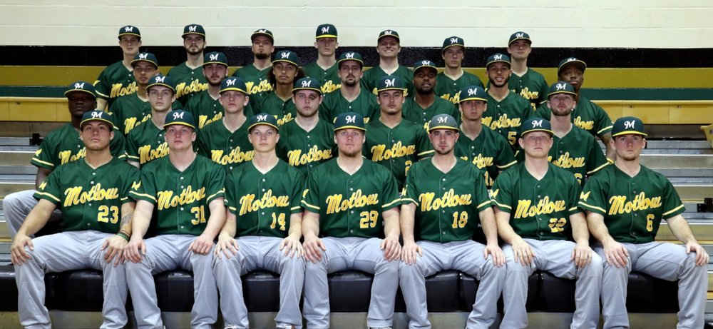 2018 Motlow Bucks – Members of the 2018 Motlow Bucks baseball team in alphabetical order by last name, are Tre Bailliez, Dallas Bryan, Michael Bruhin, Jordan Burdette, Jase Carvell, Jake Chaney, Chase Dixon, Kobe Foster, Matthew Garmendia, Brayden Gentry, Chandler Hardiman, Tyler Harmon, Darin Keller, Taylor Lawson, John Mangini, Micah McClellan, Paul McIntosh, Patrick Music, Carson Pack, Justin Parker, De'Andre Pitts, Paul Rahman, Nathan Sanders, Dayton Sanders, Kirby Smith, Colin Smith, Logan Walters, Troy Weatherly, and Matt Young.