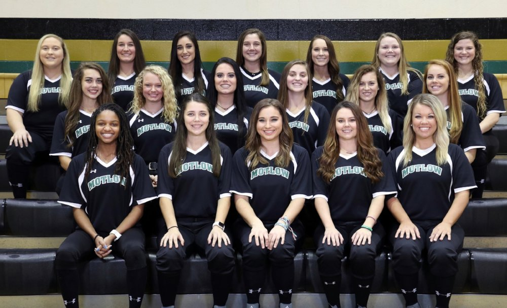 Members of the 2018 Motlow Lady Bucks softball team, front row from left: Ace Hanson, Nikita McCreary, Kendall Durard, Sarah Wilson and Breanna Owens. Second row from left: Ariel McAtee, Kylie Thackerson, Miranda Cooksey, Caroline Sarris, Madison Hopkins and Madison Woodruff. Back row from left: Emily Parks, Haley Hinshaw, Chelbie Gannon, Samantha King, Ciera Dobbins, Annsley Kalamon and Jennifer Corbitt.