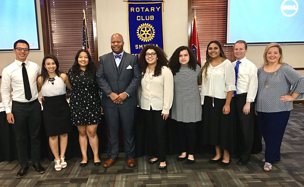 Motlow Dual Enrollment Students recognized for Community Service by Smyrna Rotary Club