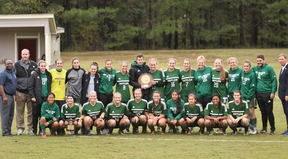 The Motlow Lady Bucks won the first-ever TCCAA/Region VII Tournament championship Friday afternoon, beating Southwest Tennessee 3-2 at St. George's School in Collierville. Motlow advances to the NJCAA Central District Tournament, beginning Nov. 1 in Godfrey, Illinois.