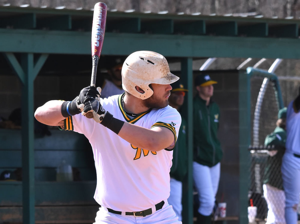 Motlow State redshirt freshman Stephen Cullen waits for the pitch during Motlow's recent home game against Martin Methodist JV. Cullen, a transfer from Georgia State, is hitting .333 on the season with four home runs and 17 RBI.