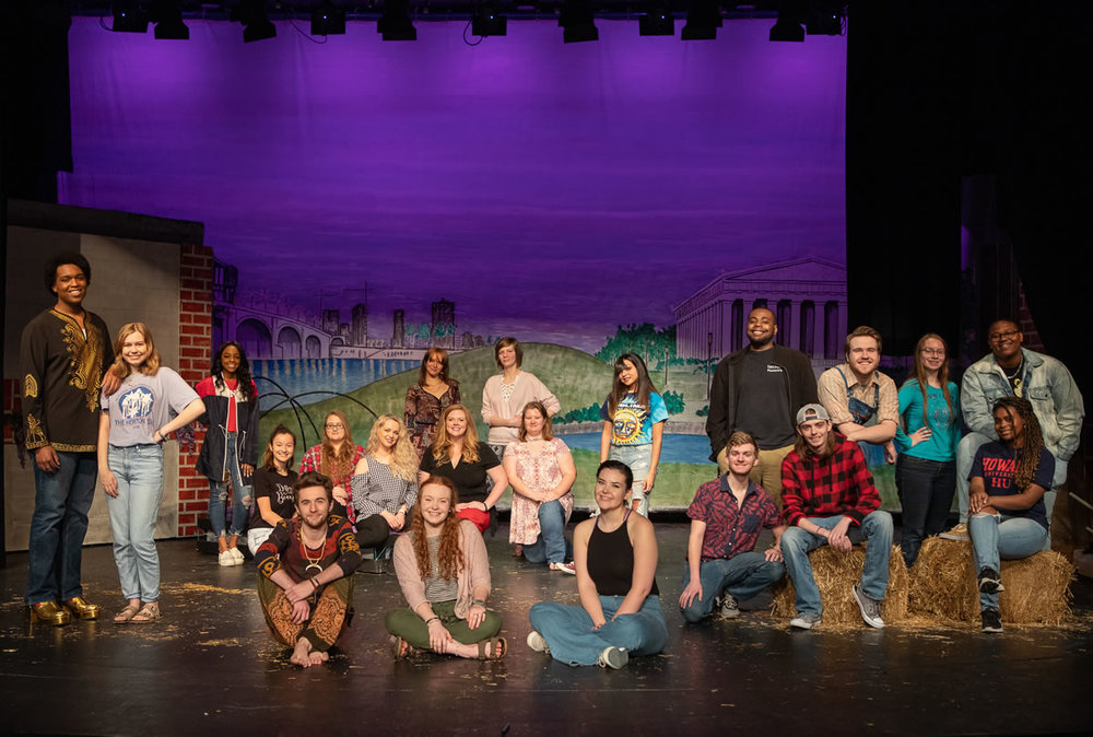 """Motlow State Community College theatre students prepare for the upcoming performances of """"A Midsummer Night's Dream"""" the first weekend of April inside Power's Auditorium on Motlow's Moore County campus. Motlow staff photo."""