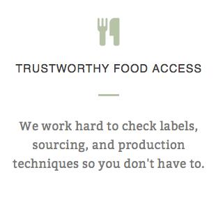 TRUSTWORTHY FOOD ACCESS