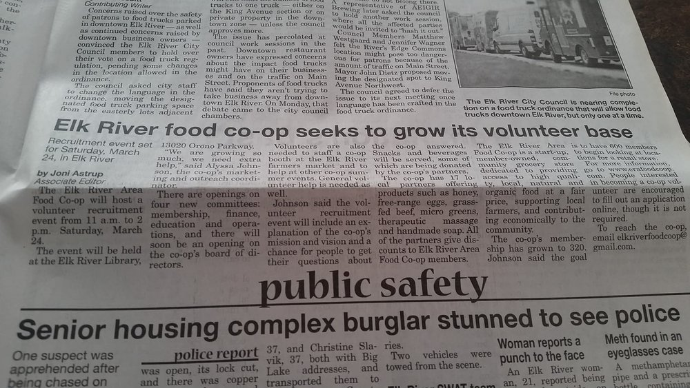 Elk River Area Food Co-op Star News
