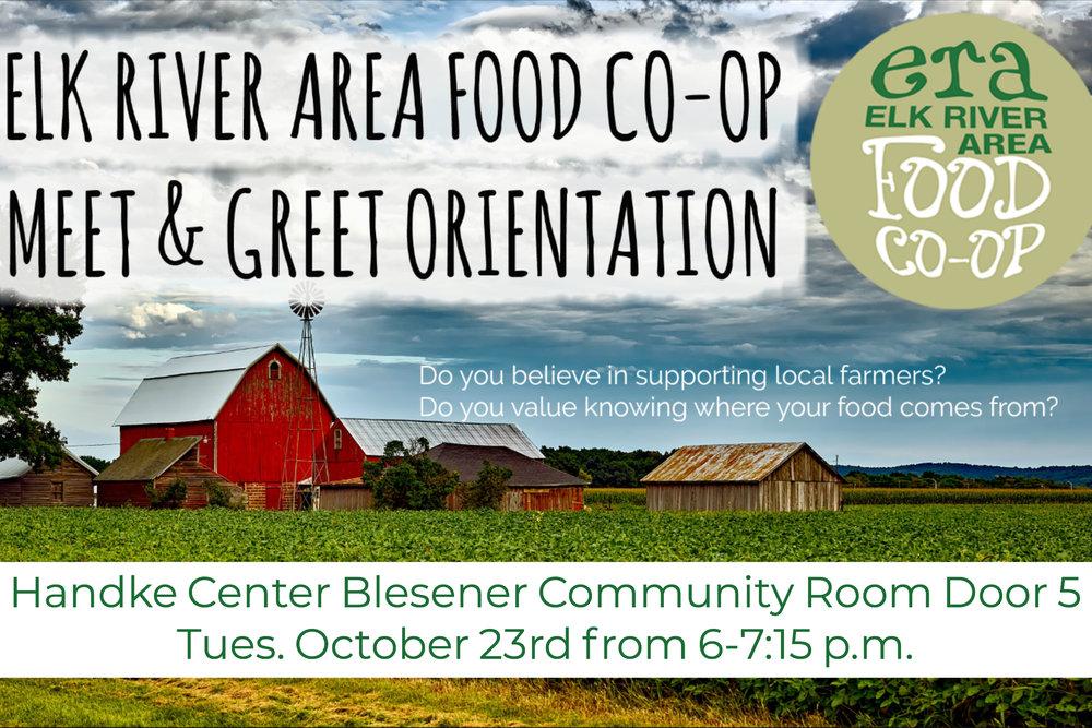 Elk River Area Food Co-op Meet & Greet Orientation